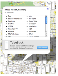 TubeStick Map example