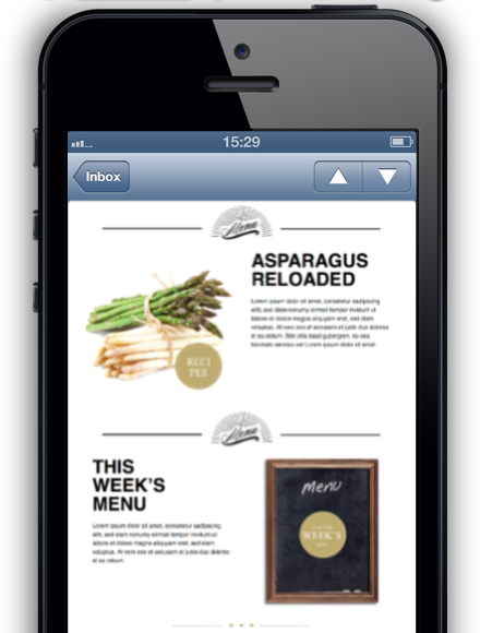 A non-responsive desktop layout on an iPhone