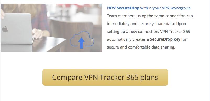 VPN Tracker newsletter call-to-action