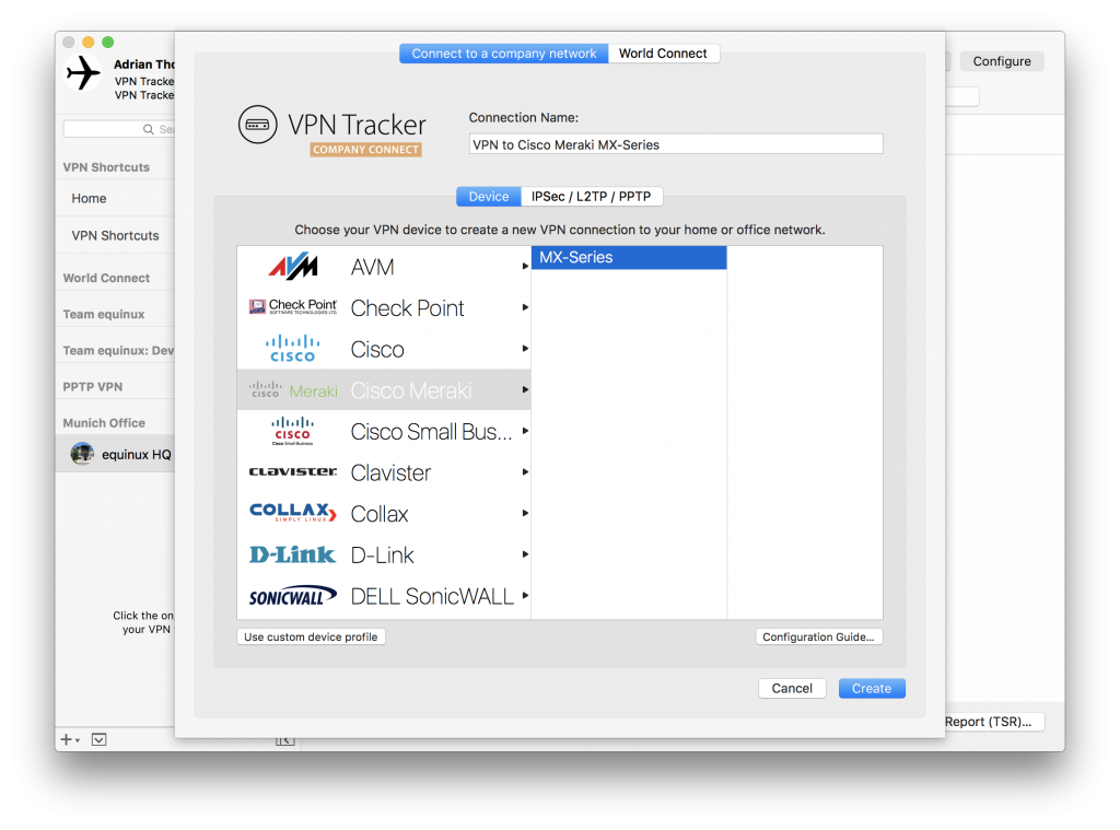 How to connect to Cisco Meraki VPN from your Mac equinux blog