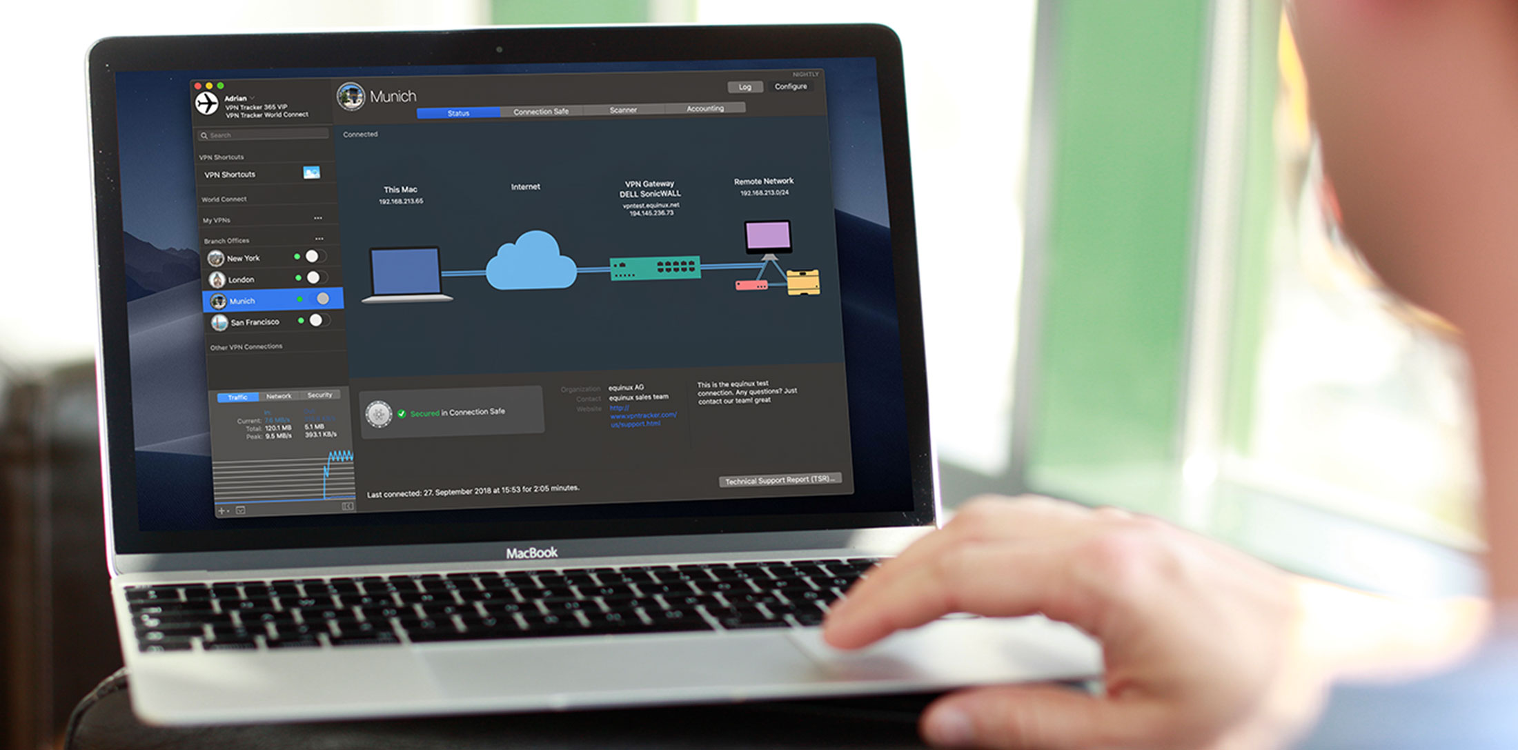 Dark Mode VPN Tracker 365