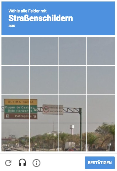 pictures captcha when using VPN