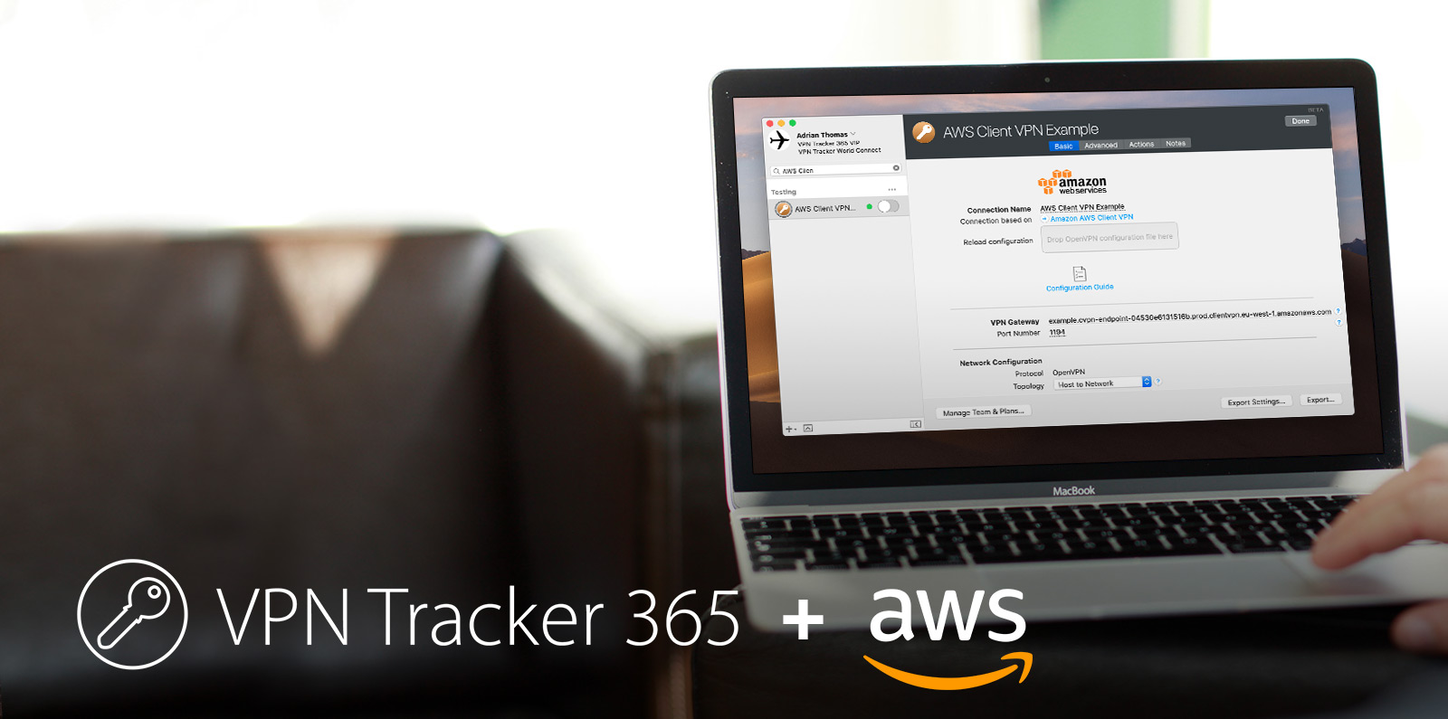 How to connect to AWS Client VPN from macOS with VPN Tracker 365