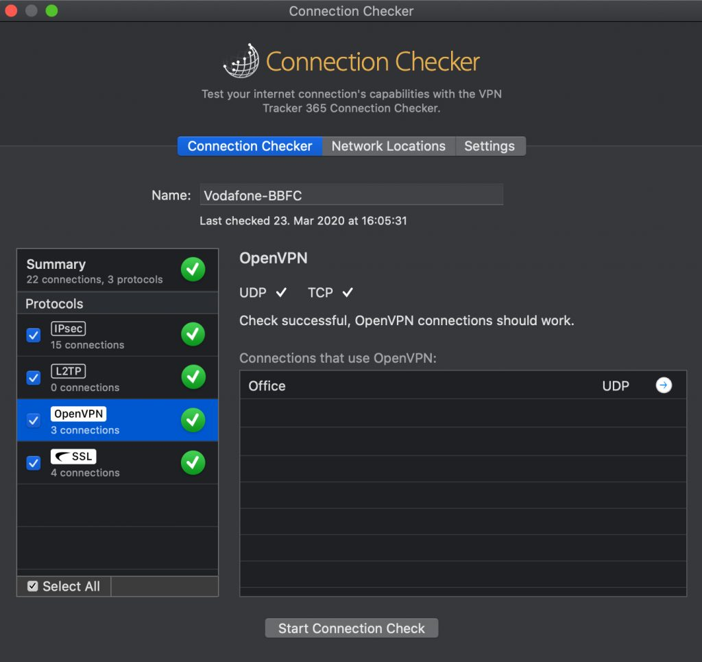 Using VPN Tracker 365 Connection Checker to test your VPN connection when working from home