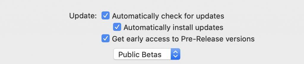 Checking for updates in VPN Tracker 365