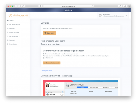 brand new streamlined user interface in my.vpntracker