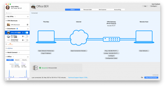new app sidebar in vpn tracker 365