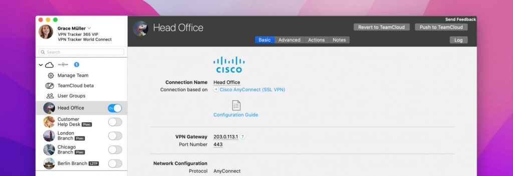 connecting to Cisco anyconnect vpn on macOS Monterey